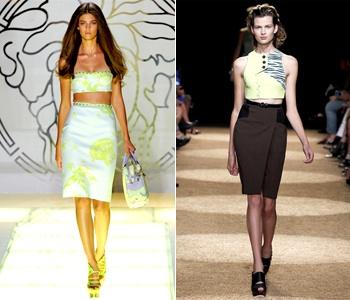 Модели юбки с завышенной талией